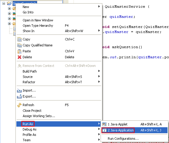 Eclipse And MyEclipse IDE: Another Way To Invoke The Run