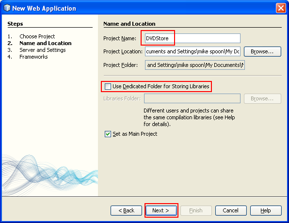Creating the Web Application Project for Hibernate