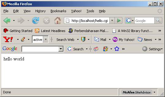 Install, configure and test Perl on Windows 2003 Server