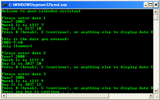 C++ .Net programming tutorial - continue keyword console program output