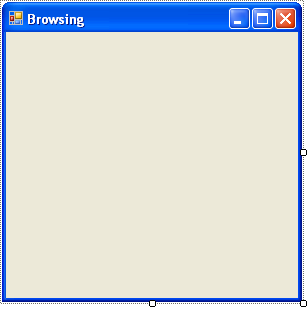 Setting the form's Text property to Browsing