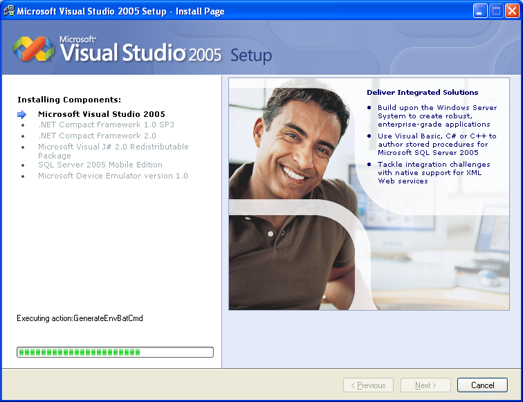 Installing Visual Studio 2005 Standard Edition - Wizard page 8