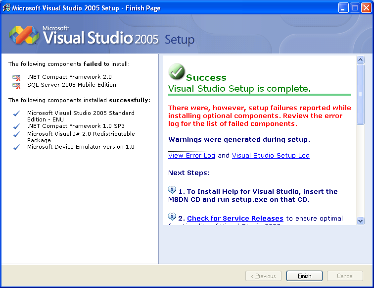 msdn library visual studio net: