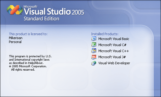 Launching Visual Studio 2005